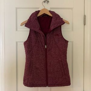 North Face Heather Plum Vest